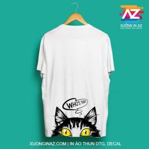 In áo hình mèo 01