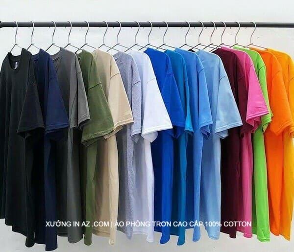 Nguồn áo thun trơn, áo phông cotton chất lượng tại AZ